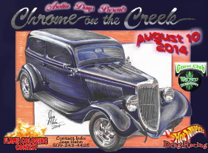 Chrome on the Creek 2014 poster